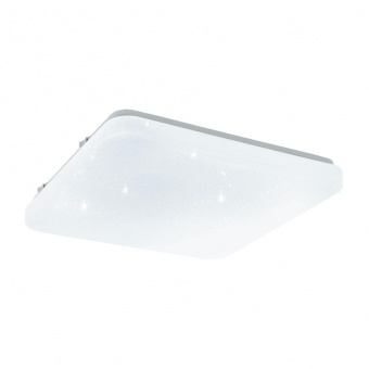 pvc плафон, with crystal , eglo, frania-s, led 11.5w, 3000k, 1350lm, 97881