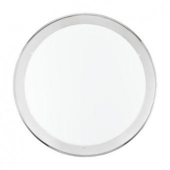 стъклен плафон, chrome, eglo, planet, 2x60w, 82944