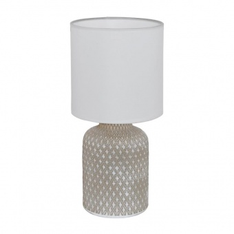 керамична настолна лампа, grey, eglo, bellariva, 1x40w, 97774