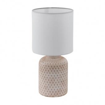 керамична настолна лампа, creme-white, eglo, bellariva, 1x40w, 97773