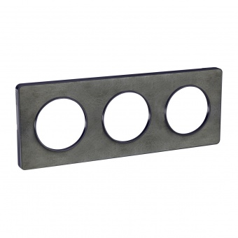 тройна рамка, камък, schneider, odace touch, s540806v