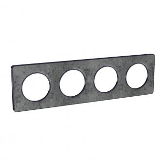 четворна рамка, морски камък, schneider, odace touch, s540808u