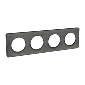 четворна рамка, камък, schneider, odace touch, s540808v