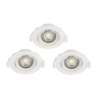 pvc луна , white, eglo, sartiano, led 3x5w, 3000k, 3x470lm, 32896