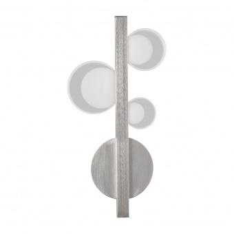 метален аплик, satin chrome, rabalux, lorraine, led 9w, 3000k, 500lm, 5654