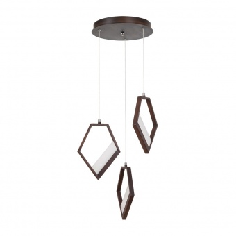 метален пендел, brown, rabalux, silvana, led 45w, 3000k, 3600lm, 5643