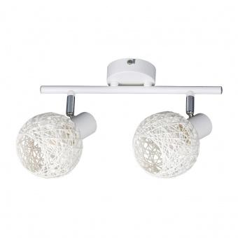 метален спот, matte white, rabalux, hazel, 2x15w, 5618