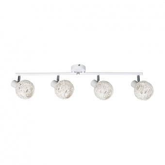 метален спот, matte white, rabalux, hazel, 4x15w, 5620