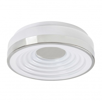 pvc плафон, chrome, rabalux, polina, led 18w, 3000k, 1130lm, 5696