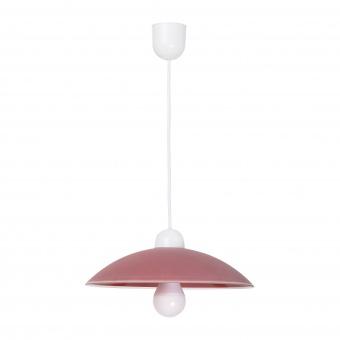 pvc пендел, claret/white, rabalux, cupola range, 1x60w, 1407