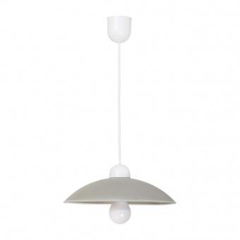 pvc пендел, grey/white, rabalux, cupola range, 1x60w, 1408