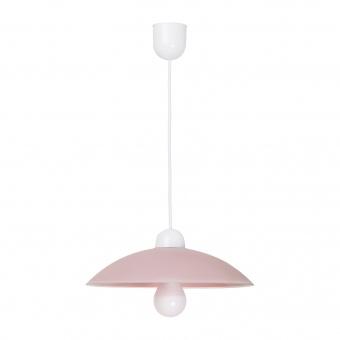 pvc пендел, rose/white, rabalux, cupola range, 1x60w, 1409