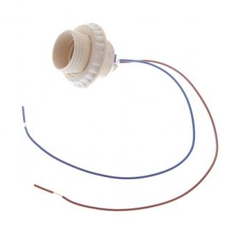 пластмасова фасунга с кабел, крем, е27, elbulgaria, e27 crem