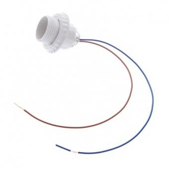 пластмасова фасунга с кабел, бяла, е27, elbulgaria, e27 wh