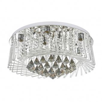 кристален плафон, хром, elbulgaria, 8x40w+led rgb, 1942/60 ch