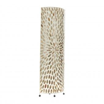 лампион от седеф и текстил, бял/злато, elbulgaria, 2x40w, eli 34f oval/gd