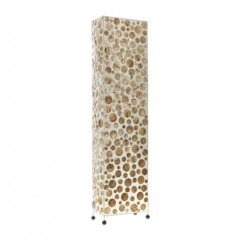 лампион от седеф и текстил, бял/злато, elbulgaria, 2x40w, eli 35f gd