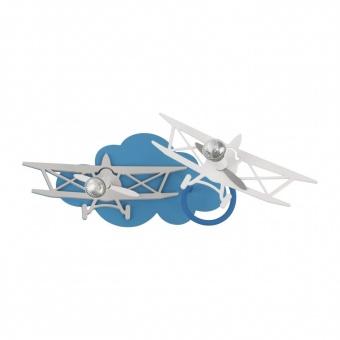 дървен спот, blue+grey, nowodvorski, plane, 2x35w, 6903