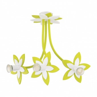 дървен полилей, green, nowodvorski, flowers, 3x35w, 6898