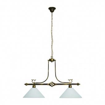 стъклен полилей, brown+gold, nowodvorski, cora, 2x40w, 3484
