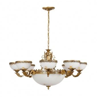 стъклен полилей, gold, nowodvorski, attyka, 11x40w, 3365