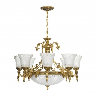 стъклен полилей, gold, nowodvorski, pireus, 11x40w, 3380