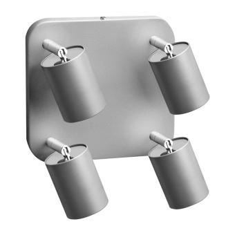 метален спот, silver, nowodvorski, eye spot, 4x35w, 5844