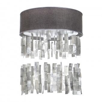 текстилен led плафон със седеф, сив, elbulgaria, led 24w, 3000-4500k, 1350c/24w grey+eli46/s sl