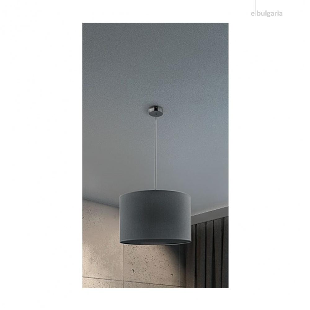 текстилен пендел, grey, nowodvorski, hotel, 1x40w, 9298