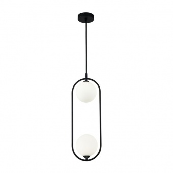 стъклен полилей, black, maytoni, ring, 2x25w, mod013pl-02b