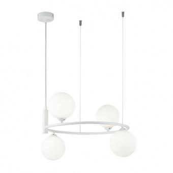 стъклен полилей, white, maytoni, ring, 4x25w, mod013pl-04w