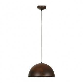 метален пендел, brown, nowodvorski, hemisphere rust s, 1x40w, 6367