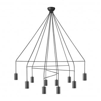 метален полилей, black, nowodvorski, imbria, 10x25w, 9680
