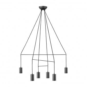 метален полилей, black, nowodvorski, imbria, 6x25w, 9677