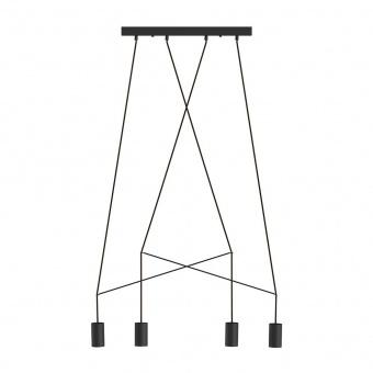 метален полилей, black, nowodvorski, imbria, 4x25w, 9192