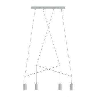 метален полилей, white, nowodvorski, imbria, 4x25w, 9191