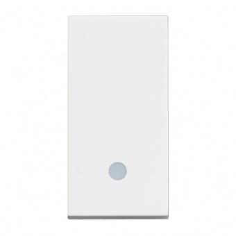 ключ обикновен сх.1 с индикаторна лампа, 10a, white 1m, bticino, classia, rw4001l