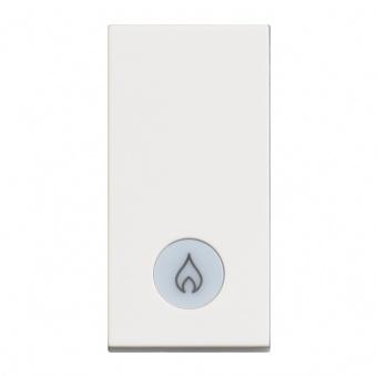 ключ обикновен сх.1 с индикаторна лампа, 16a, white 1m, bticino, classia, rw4001lp