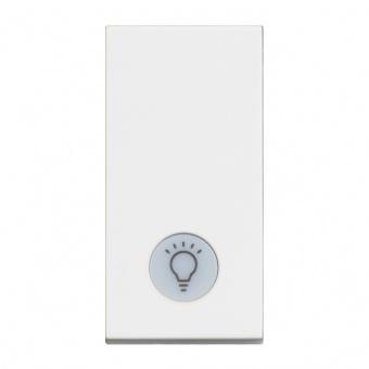 ключ обикновен сх.1 с индикаторна лампа, 10a, white 1m, bticino, classia, rw4001la