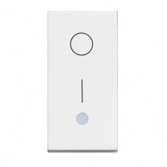 ключ обикновен сх.1 с индикаторна лампа, 16a, white 1m, bticino, classia, rw4002l