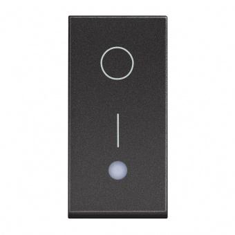 ключ обикновен сх.1 с индикаторна лампа, 16a, black 1m, bticino, classia, rg4002l
