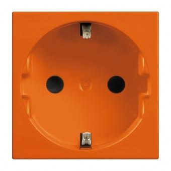 контакт шуко с детска защита, 16а, orange, bticino, classia, r4141a