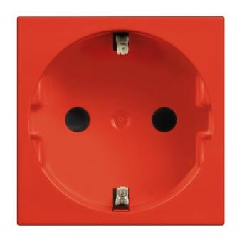 контакт шуко с детска защита, 16а, red, bticino, classia, r4141r