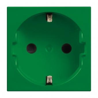 контакт шуко с детска защита, 16а, green, bticino, classia, r4141v