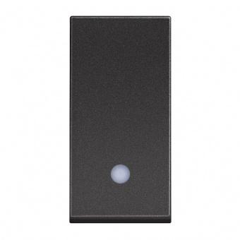 бутон с индикаторна лампа, 10a, black 1m, bticino, classia, rg4005l