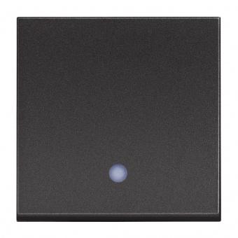 бутон с индикаторна лампа, 10a, black 2m, bticino, classia, rg4005m2l