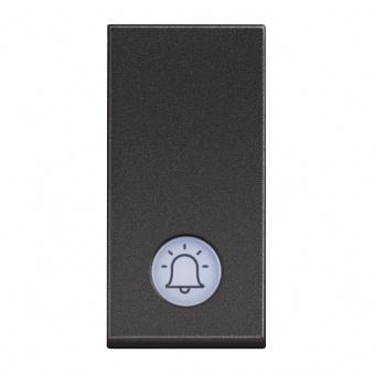 бутон с индикаторна лампа, 10a, black 1m, bticino, classia, rg4042v12