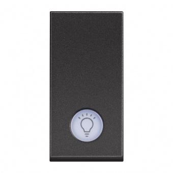 бутон с индикаторна лампа, 10a, black 1m, bticino, classia, rg4043