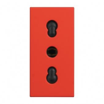 контакт италиански стандарт с детска защита, 16а, red, bticino, classia, r4180r
