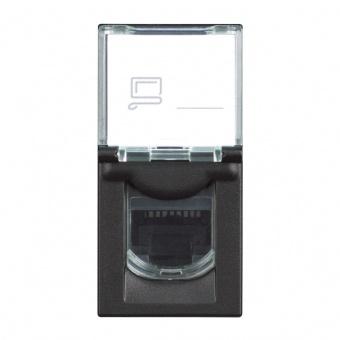 компютърна розетка UTP cat6, black, bticino, classia, rg4279c6